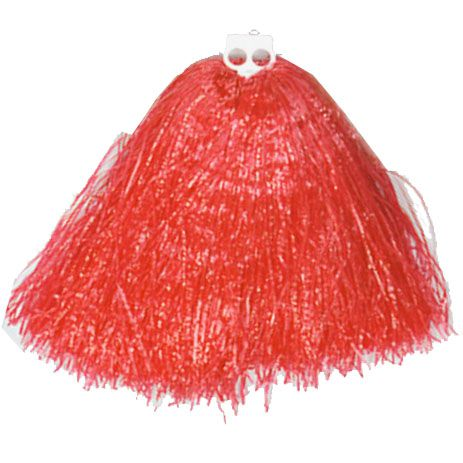 Red Jumbo Cheerleaders Pom Pom - Each