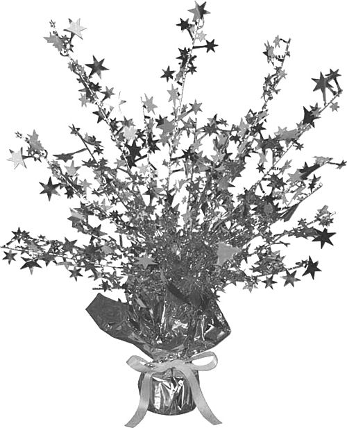 Silver Star Gleam & Burst Centrepiece - 15""