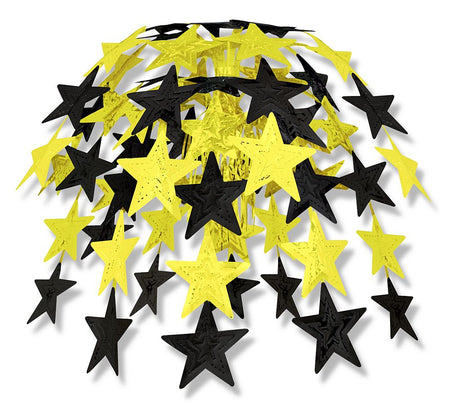 Click to view product details and reviews for Black And Gold Star Cascade Decoration 60cm.