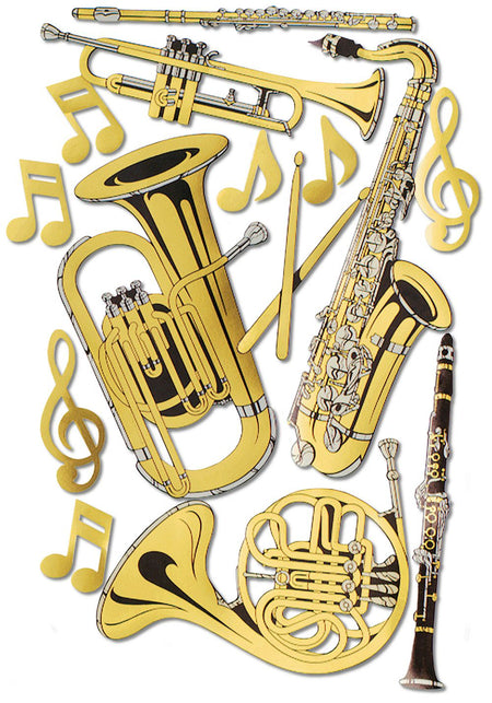 Musical Instrument Cutouts Set of 15 - 17