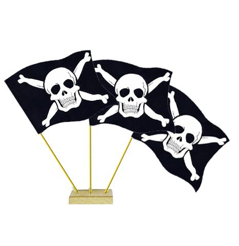 "Pirate Table Flags 6"" on 10"" Pole"