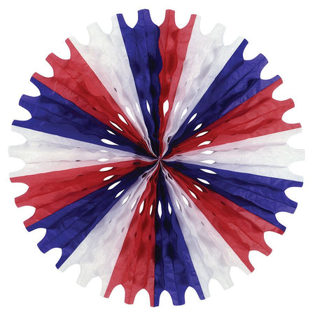 Red, White & Blue Paper Fan - 63.5cm