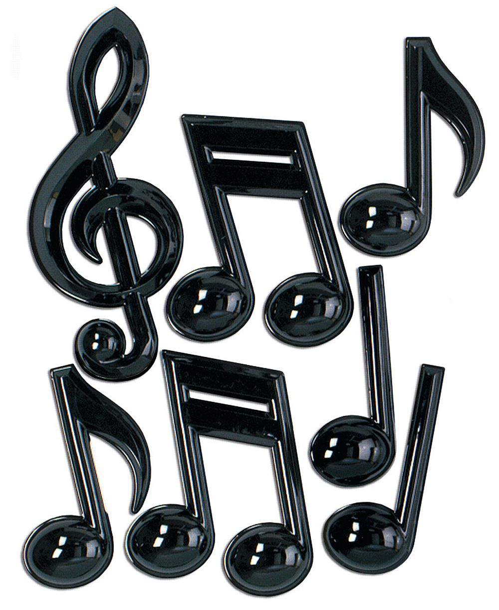 "Musical Notes 13"" - Pack of 7"