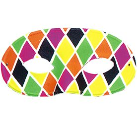 Men's Harlequin Eye Mask
