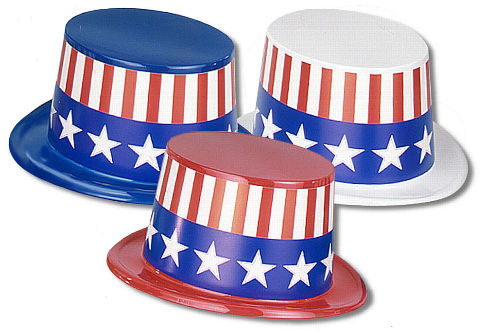 American Top Hat - Assorted Colours - Each
