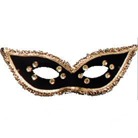 Lady's Black Sequinned Mask