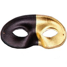 Domino Mask - Black & Gold