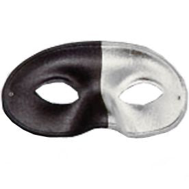 Domino Mask - Black & Silver