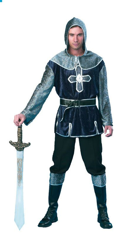 Dark Blue & Silver Medieval Knight Costume