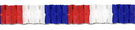 Click to view product details and reviews for Red White Blue Tissue Paper Garland 4m.