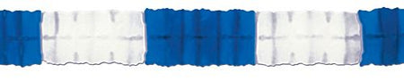 Click to view product details and reviews for Blue White Tissue Paper Garland 4m.