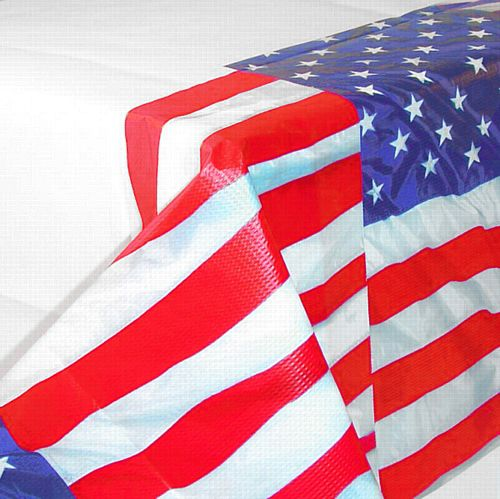 American Flag Flying Colours Paper Tablecloth - 2.8m
