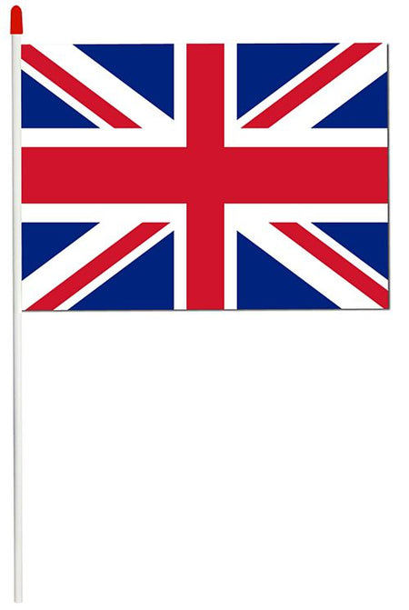 British Union Jack PVC Hand Waving Flag - Each 28cm x 18cm
