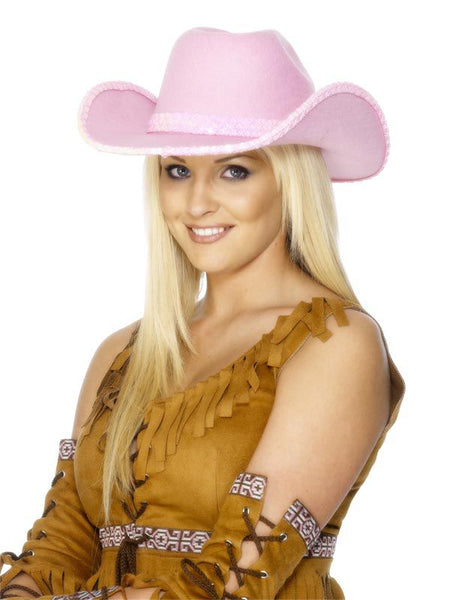 Click to view product details and reviews for Pink Sequinned Cowboy Hat.