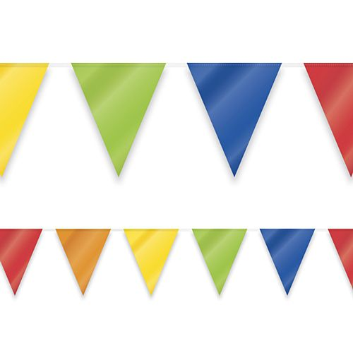 Multi-coloured Economy Bunting - 10m