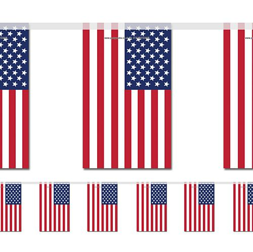 American Small Flag Bunting - 2.4m