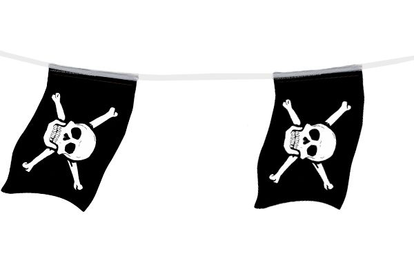 Pirate Small Paper Flag Bunting - 2.4m