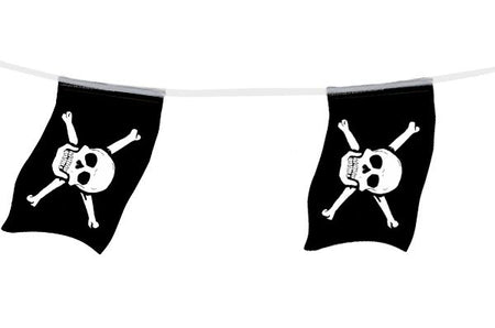 Click to view product details and reviews for Pirate Small Paper Flag Bunting 24m.