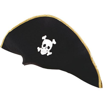 Click to view product details and reviews for Black Fabric Pirate Hat.