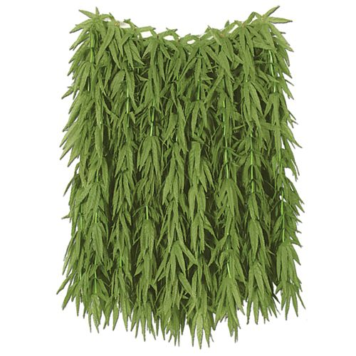 Tropical Fern Leaf Adult Hula Skirt - 60cm