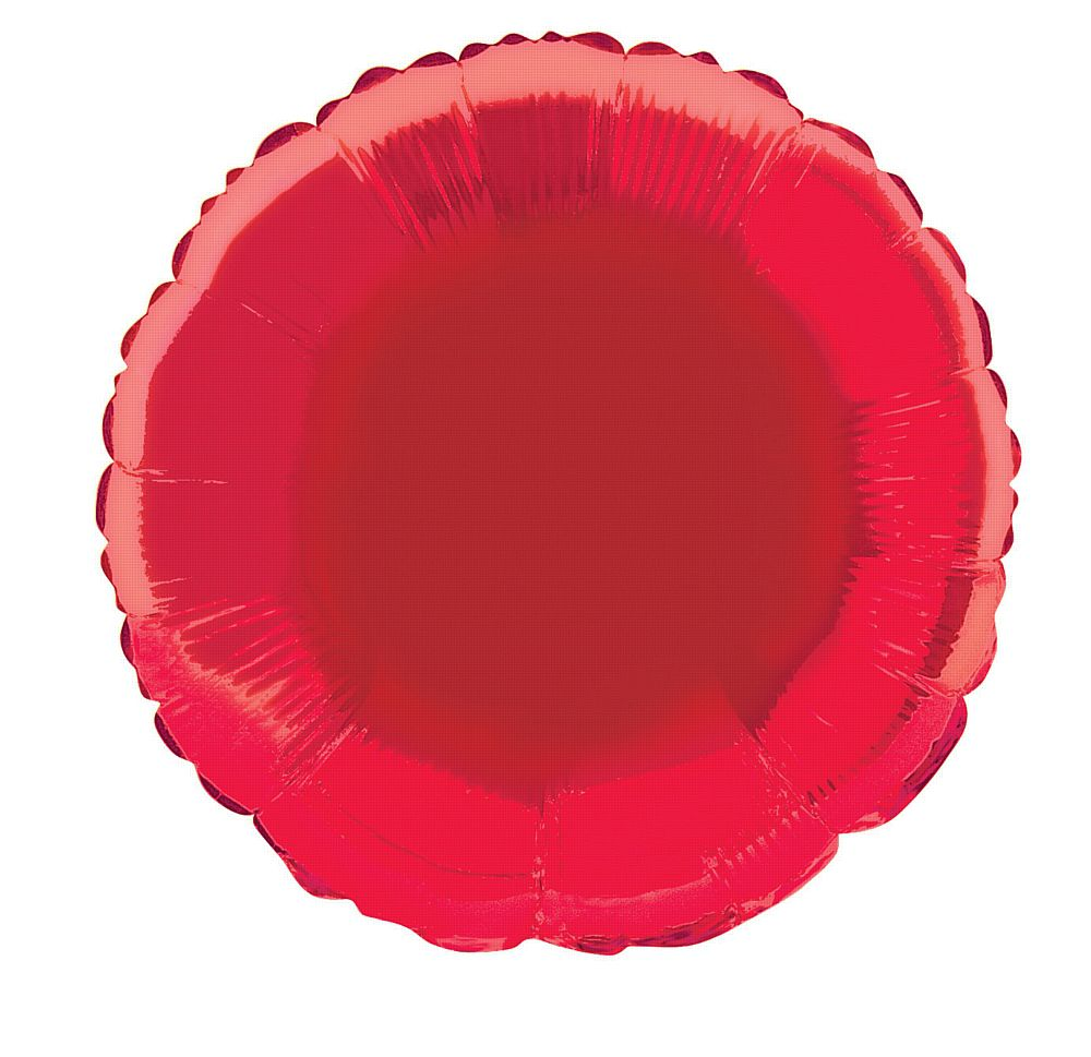 Red Round Foil Balloon - 18""