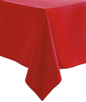Red Paper Tablecloth 1.4m x 2.8m