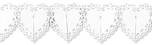 White Lace Heart Garland 12ft