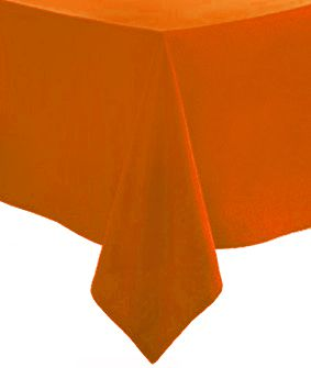 Orange Paper Tablecloth - 1.4 x 2.8m