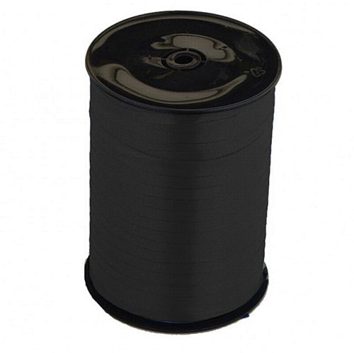 Black Curling Ribbon on Roll - 500m