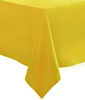 Solid Yellow Paper Tablecloth 1.4m x 2.8m