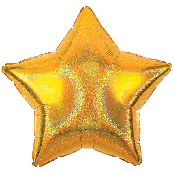 Gold dazzler star foil balloon 19""