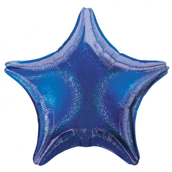 Blue Dazzler Star Foil Balloon 19""