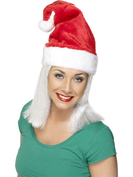 Click to view product details and reviews for Deluxe Santa Hat With Fur Trim.
