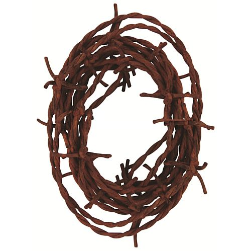Rusty Barbed Wire Garland - String Material - 3.7m