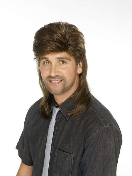 Classic Brown Mullet Wig