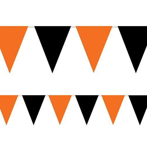 Black and Orange Outdoor Economy Bunting - 9.1m