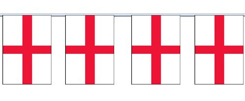 England St George Cloth Flag Bunting - 6m