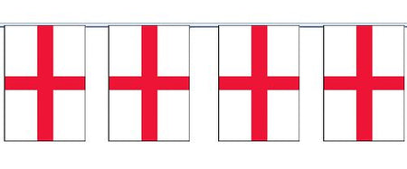 England St. George's Cloth Flag Bunting - 6m