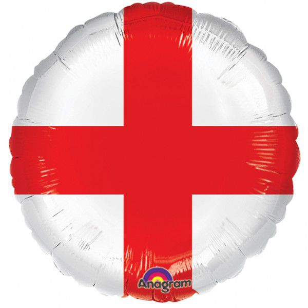 England St George's Flag Foil Balloon - 18""