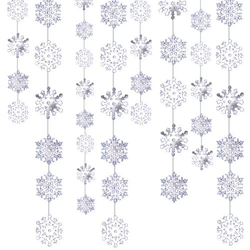Snowflake String Decoration - 2.1m - Pack of 6