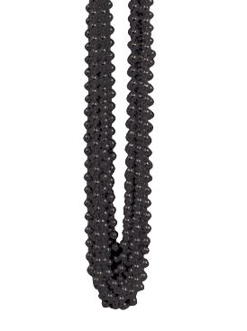 Black Party Beads - Pack of 12