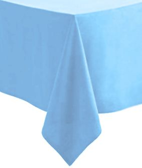 Light Blue Paper Tablecloth 1.4m x 2.8m