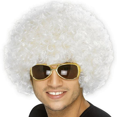 White Curly Wig
