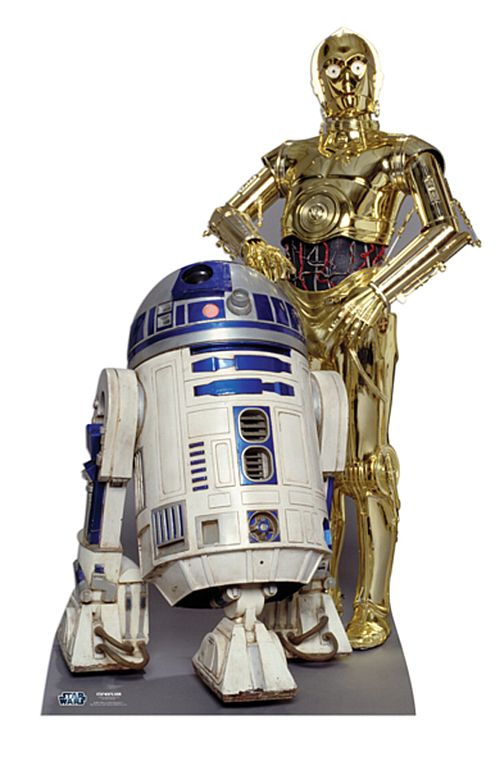 Star Wars C-3PO and R2-D2 Cardboard Cutout - 1.66m