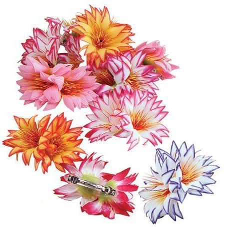 Flower Hair Clips - Assorted Colours