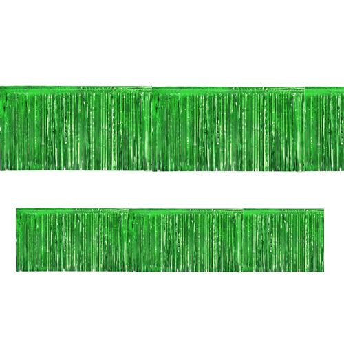 Green Metallic Fringed Garland - 3m