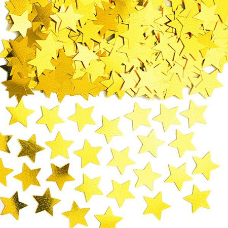 Click to view product details and reviews for Gold Stars Confetti 14g.