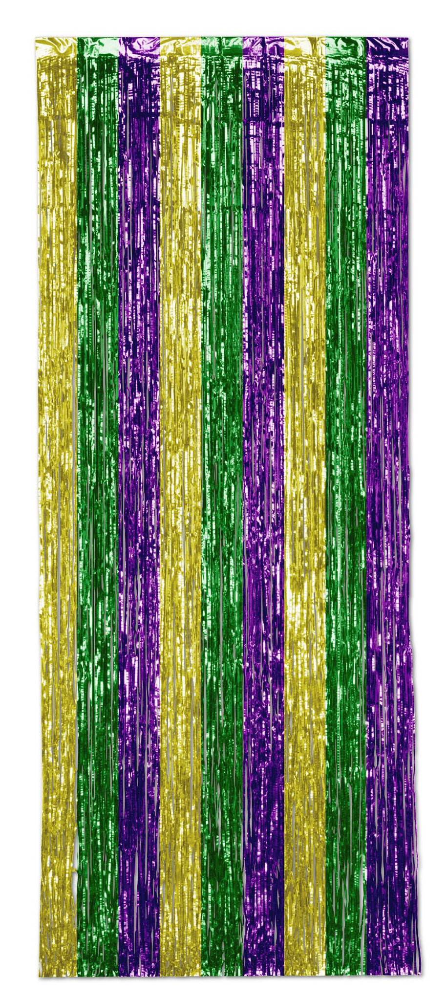 Gold, Green And Purple Shimmer Curtain - 2.5m