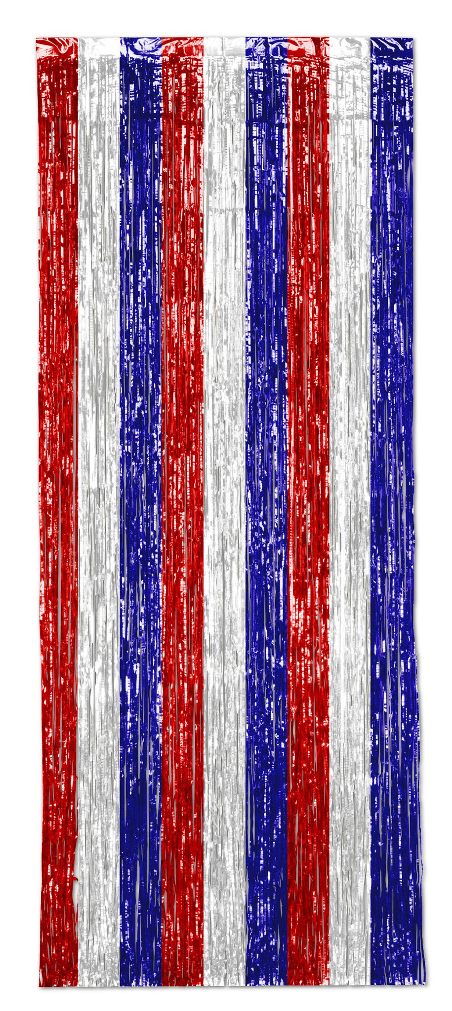 Red, White and Blue Shimmer Curtain - 2.5m