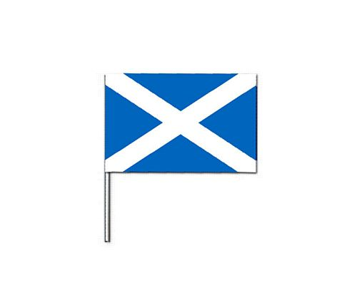 St. Andrews Cloth Flag On Pole 18ins x 12ins